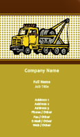 Tow Truck Illustration Business Card Template